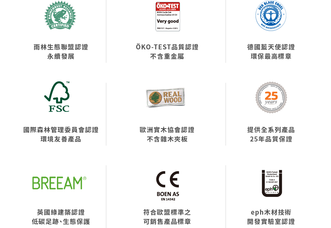 歐洲實木協會認證不含雜木夾板